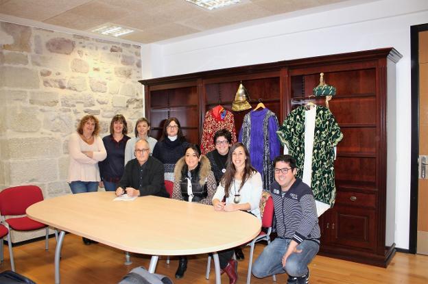 Junta directiva de la recién creada Asociación Cabalgata de Nájera
