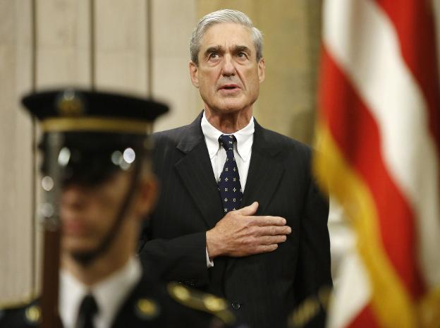 Mueller durante una ceremonia en Washington. :: J. Ernst / reuters/