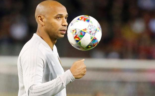 Thierry Henry antes del Bélgica-Suiza/EFE