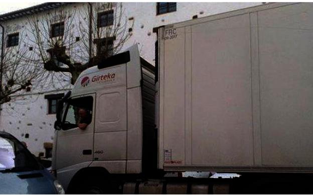24 de enero de 2016: otro camión se pierde en Ezcaray