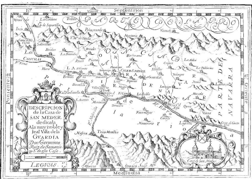 Mapa de La Rioja del siglo XVII