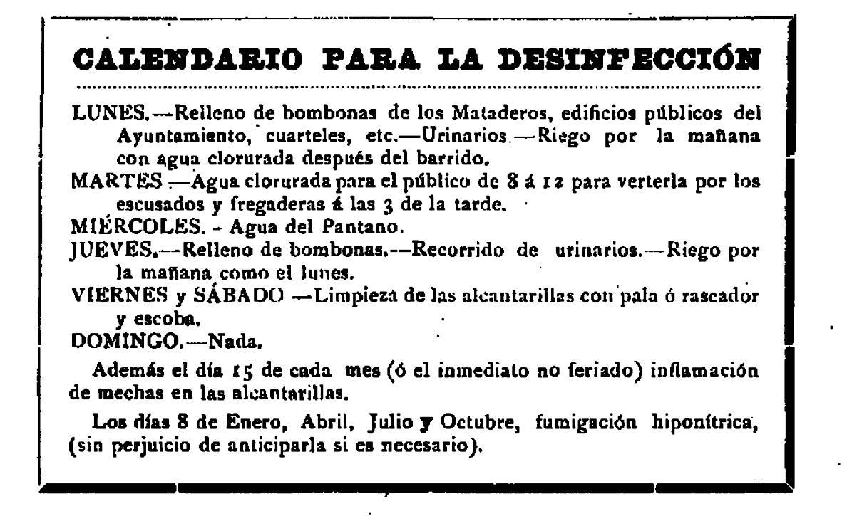 Plan semanal de limpieza de Logroño y otras órdenes generales