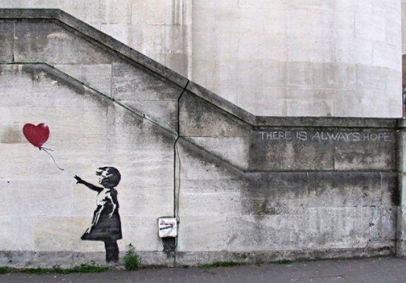Resultado de imagen de triste banksy